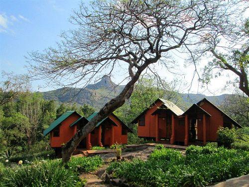 Außenansicht der Unterkunft in Swaziland