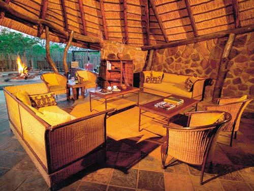 Loungebereich der Unterkunft in Waterberg
